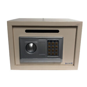 New Digital Electronic Safe Security Box Keypad Lock Wall Jewelry Gun Cash White