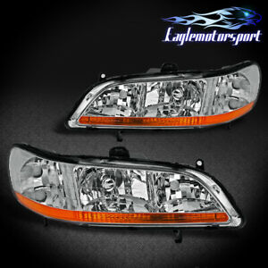 1998 1999 2000 2001 2002 Honda Accord Factory Style Chrome Headlights Pair