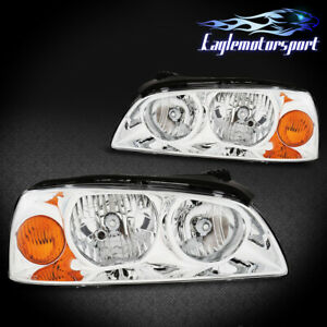 For 2004 2005 2006 Hyundai Elantra Chrome Factory Style Replacment Headlights