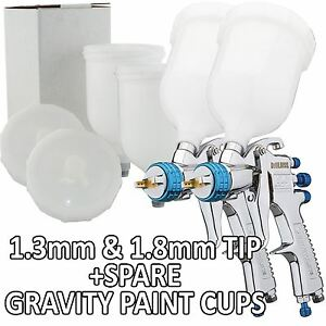 Devilbiss Slg 620 Spray Gun Gravity Feed 1 3 1 8 Primer paint lacquer spare Cups