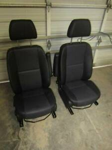 15 16 17 18 Mercedes benz Sprinter Van Black Leather Front Bucket Seats