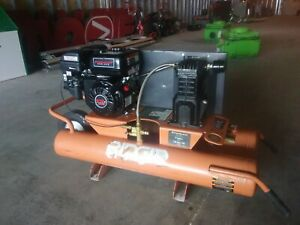 Used Ridgid 9 Gallon Portable Gas Powered Air Compressor 6 5 Hp