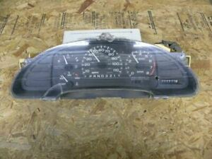 Speedometer Cluster tach 4 Spd mechanical Odo Fits 97 98 Cavalier cover Cracked