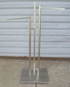 Store Fixture Supplies Stainless Steel 3 Arm Rod Clothing Garment Rack