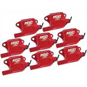 Msd 82878 Multiple Spark Plug Coil For Ls2 Ls3 Ls7 Engines 8 pack