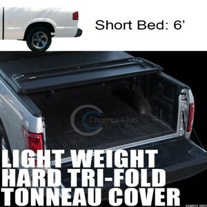 Tri Fold Hard Tonneau Cover Lw 94 03 Chevy S10 Gmc S15 Sonoma Hombre 6 72 Bed