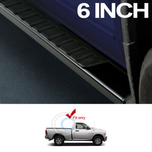 6 Oe Aluminum Blk Side Step Rail Running Boards For 09 18 Dodge Ram Regular Cab