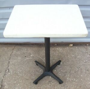Restaurant Equipment 24 X 18 Table Top With Black Cast Iron Base White Top