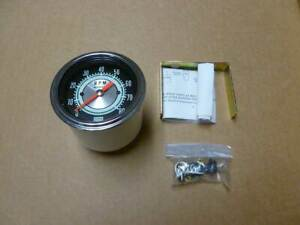 Stewart Warner Green Line Tachometer 0 8000 Rpm 3 3 8 W Minor Shipping Damage