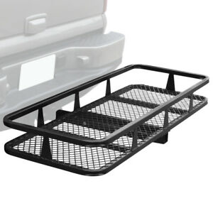 Hitch Mount Rack Cargo Basket Folding Cargo Carrier Luggage Basket 500 Lbs