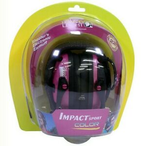 Howard Leight R 02523 Impact Sport Pink Electronic Earmuffs Hearing Protection