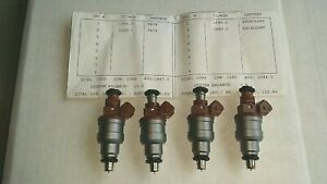 4 Real Bosch 150 Lb 1680cc 280 150 839 Fuel Injectors Flowed By Rc Engineering