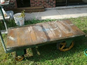 Antique Fairbanks Industrial Factory Cart