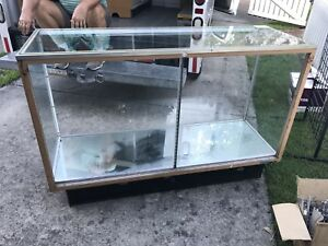 Retail Glass Display Case 60 l X 40 h X 21 w Includes Glass Shelves