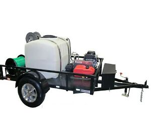 Turbojetter Ax Trailer Mounted Sewer Drain Line Jetter 10 Gpm 3 000 Psi