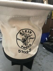 Klein Tools 5103 s Canvas Tapered Wall Bucket W hook