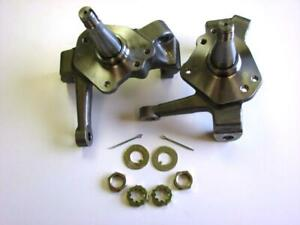 2 Mustang Ii Forged 2 Dropped Spindles Spindle Nut Kit Street Rod Chevy Ford