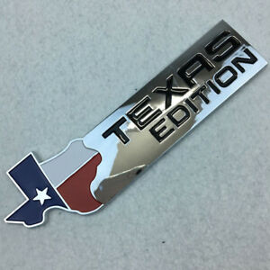 1 X Chrome Finish 3d Texas Edition Emblem Badges For Ford F 150 F 250 F 350 Star