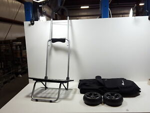 Bigger Trolley Dolly Black Shopping Grocery Foldable Cart