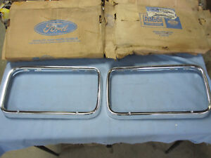 Nos Ford 1965 Fairlane Headlight Door Bezels Trim D50z 13064 a D50z 13064 b