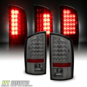 Smoked 2002 2006 Dodge Ram 1500 Led Tail Lights Lamps Left Right 02 03