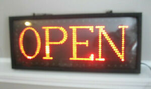 Store Open Sign By Millennium Visual Systems Mvs 103 R Large 26 X 11 Flashing