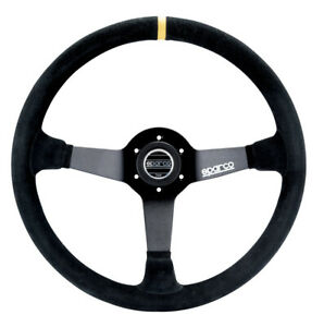 Sparco 015r345msn Steering Wheel 345 Black Suede