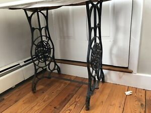 Vintage Cast Iron Sears Roebuck Co Treadle Sewing Machine Table Base