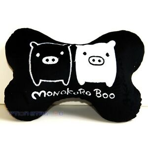 Monokuro Boo Black Cute Cartoon Car Seat Headrest Neck Cushion Pillow One Pair