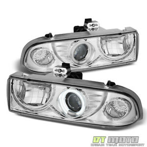 98 04 Chevy S10 Blazer Ccfl Halo Projector Headlights Headlamps Lights 1998 2004