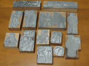Vintage Letter Press Printing Block Lot Of 13 Boys Girls Children Adults Clothes