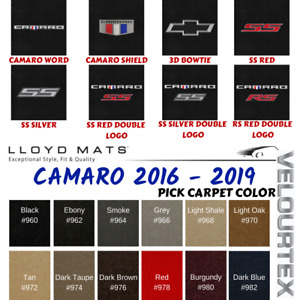 Lloyd Mats Camaro 2016 2019 Velourtex Car Floor Mat Carpet Embroidered Logo