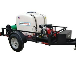 Turbojetter Aj Trailer Mounted Sewer Drain Line Jetter 8 Gpm 3 500 Psi