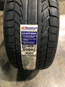 2 New 255 40 17 Bfgoodrich G force Sport Comp 2 Tires