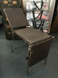 Antique Victorian Gyn Medical Folding Table Cast Iron