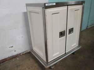 caddy Corp H d Commercial S s Insulated 2 Compartments Food Delivery Cart