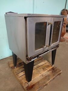 H Duty Commercial Stainless Steel natural Gas 2 Doors Convection Oven On Stand