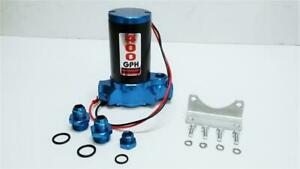 400 Gph High Performance Billet Electric Fuel Pump Gas Or Alcohol Blue 400gph