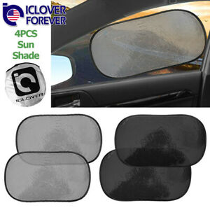 4pcs Static Cling Car Sun Shade Side Rear Window Visor Shield Cover Baby Kids Us