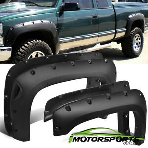 For 2007 2013 Chevy Silverado 1500 Fender Flares 69 Short Bed Pocket Style