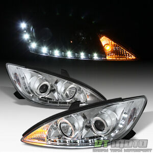For 2002 2006 Toyota Camry Projector Headlights W drl Led Daytime Running Lights