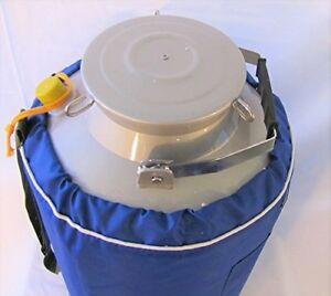 10l Liquid Nitrogen Ln2 Storage Tank Container Cryo Dewar Wide Mouth 8 Neck New