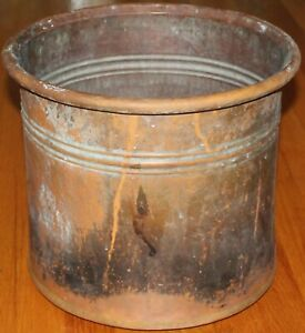 Turkish 13 1 2 X12 Antique Handmade Aged Copper Boiler Planter Cauldron Pot