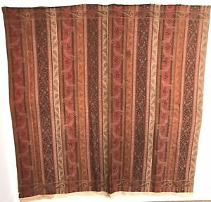 Antique Fine Wool Paisley Shawl Wrap 19th C European