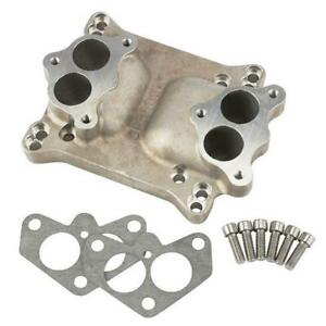 Speedway Motors Dual Stromberg Carbs To 4 Barrel Intake Manifold Adapter Plate