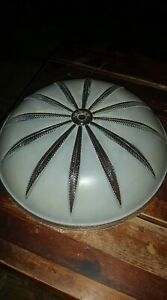 Vintage Art Deco Frosted Light Fixture Shade Excellent Condition Very Heavy