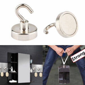 Magnetic Hooks Neodymium Kitchen Wall Organiser Grid Hanging Rails Containers