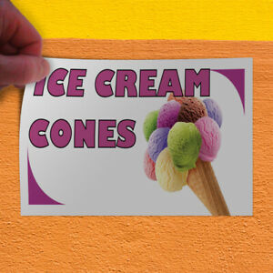 Decal Sticker Ice Cream Cones 1 Style A Retail Ice Cream Outdoor Store Sign