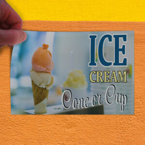 Decal Sticker Ice Cream Cone Or Cup Retail Ice Cream Outdoor Store Sign