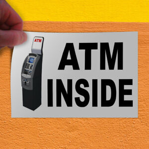 Decal Sticker Atm Inside With Atm Machine Business Atm Inside Store Sign Black